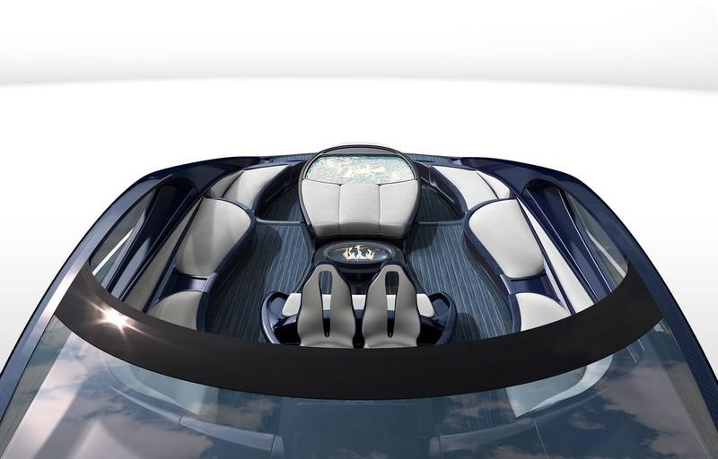 Bugatti Niniette 66 yacht - Unique Bugatti designed helm chairs