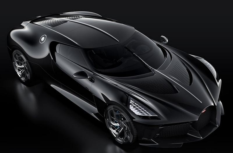 Bugatti's black car