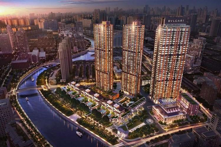 Bulgari Hotel Shanghai, China panorama