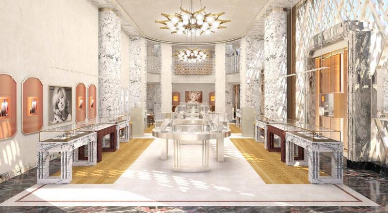 Bulgari New York Fifth Avenue flagship 2017 - int