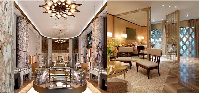 Bulgari New York Fifth Avenue flagship 2017 - interior