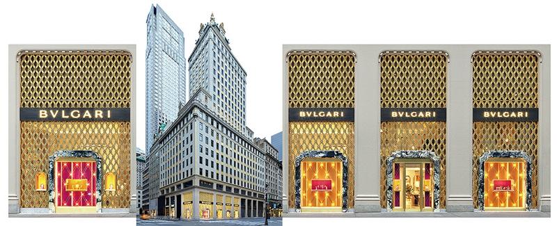 Bulgari New York Fifth Avenue flagship 2017 windows