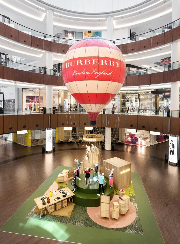 Burberry Balloon travels from London to Dubai
