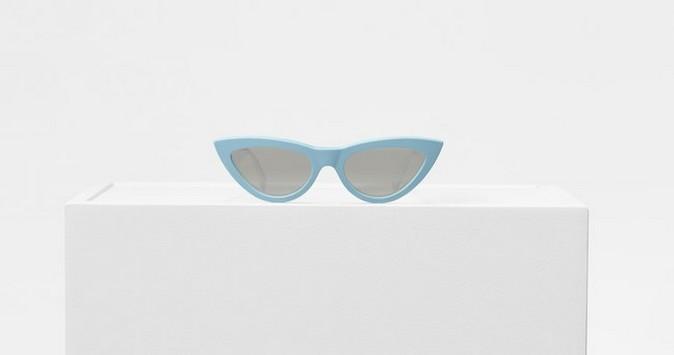 Céline pop-up baby blue sunglasses