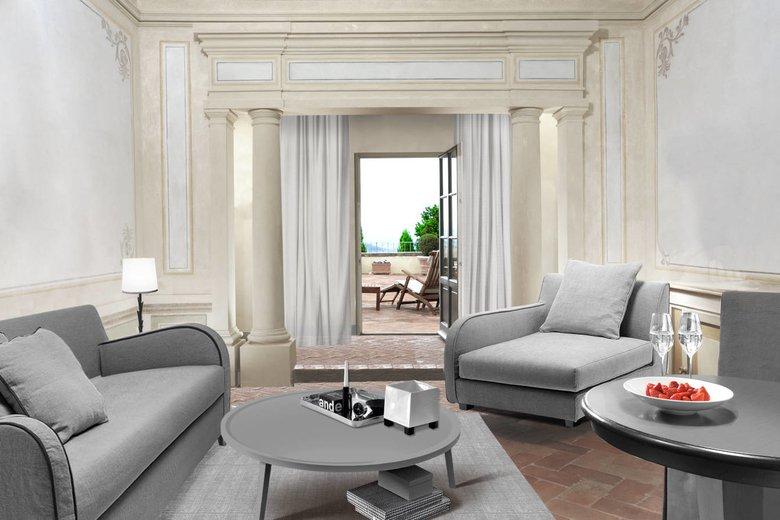 COMO Castello Del Nero, Tuscany- galway-suite-living-room_COMO-Terrace-Suite