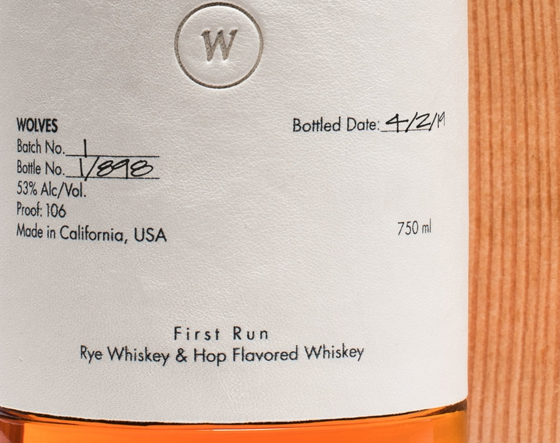 California's first luxury whiskey brand, Wolves Whiskey-2019