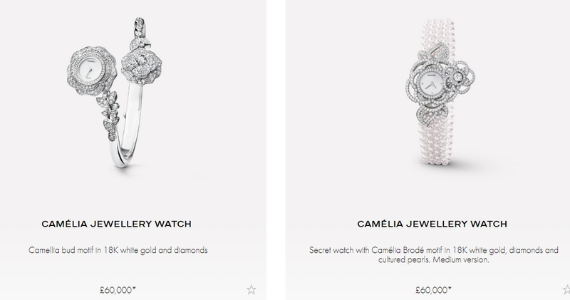Camelia watches collection - variations-