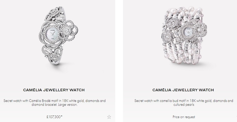 Camelia watches collection - variations watches