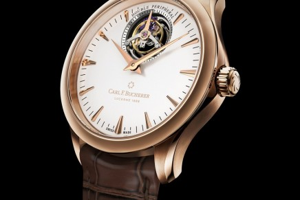 Carl F. Bucherer launches a world first at Baselworld 2018: Manero Tourbillon Double Peripheral, a masterpiece with floating tourbillon