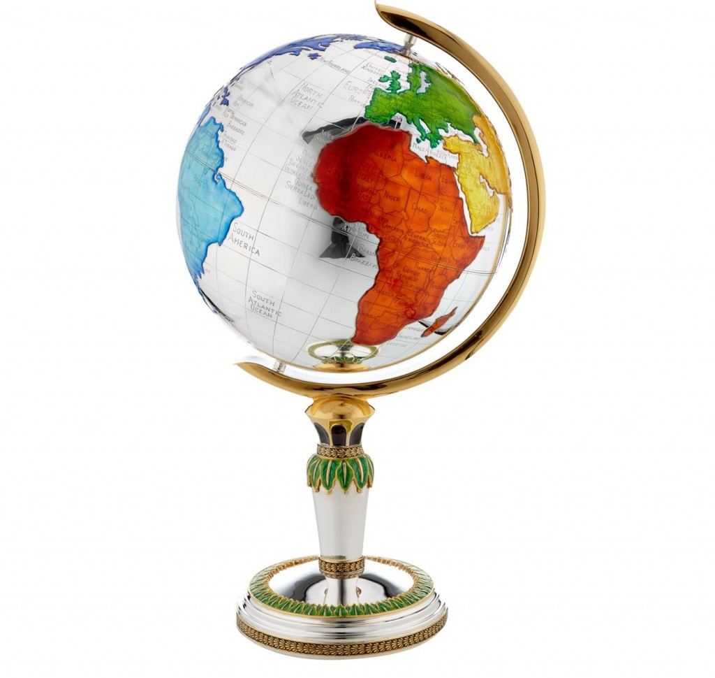 Carrs Silver Enamelled Silver Plated Globe