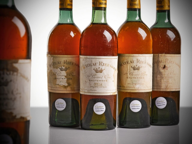 Cartier Secret Cellar Wines Revealed for the First Time - Cartier, Rieussec 1914