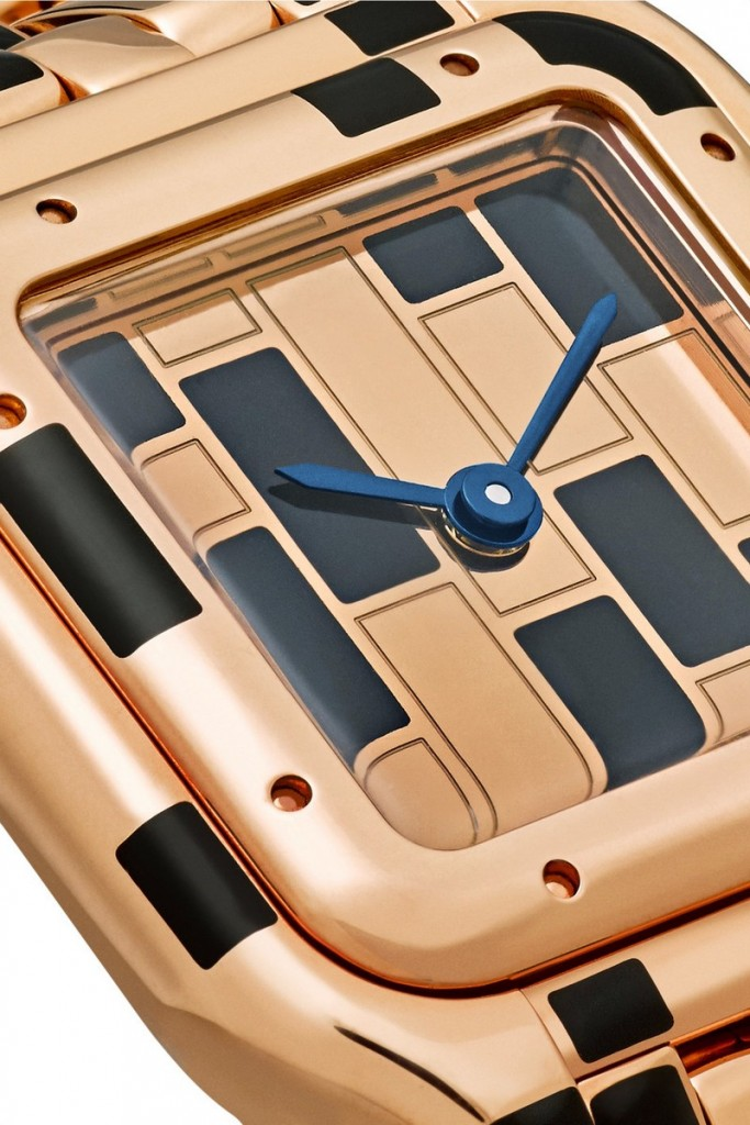 Cartier's numbered timepiece is crafted from 18-karat pink gold lacquered in black