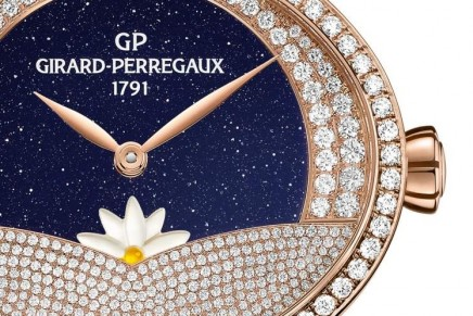 Cat's Eye Arabian Jasmin graced by Girard-Perregaux with complementary Day/Night complications