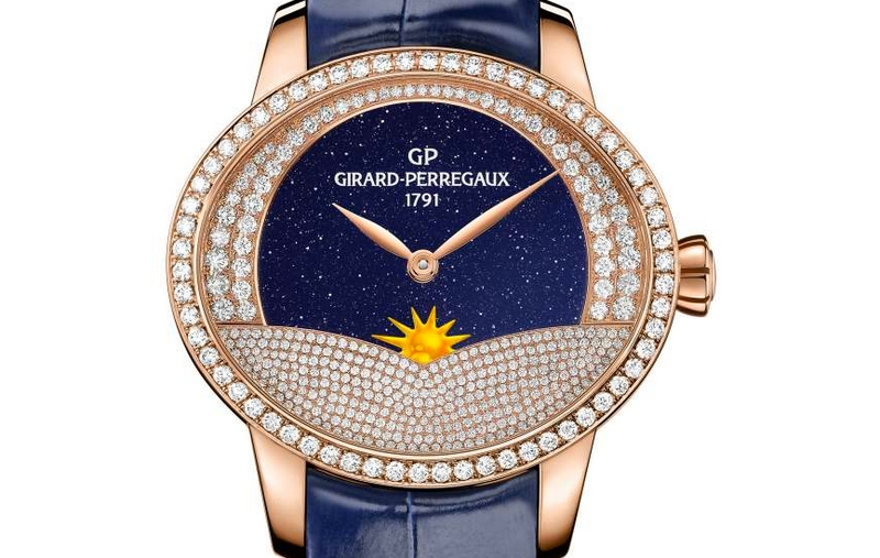 Cat's Eye Arabian Jasmin graced by Girard-Perregaux with complementary Day x Night complications-