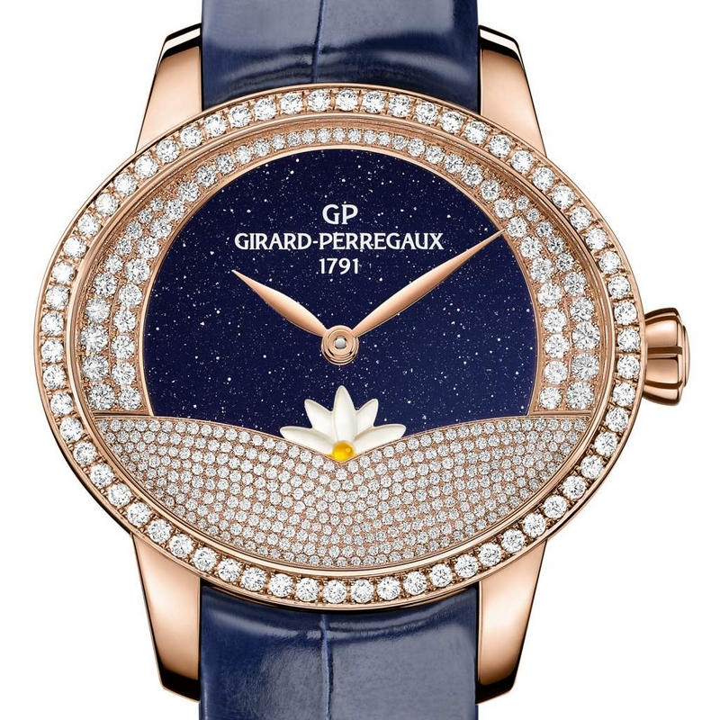 Cat's Eye Arabian Jasmin graced by Girard-Perregaux with complementary Day x Night complications