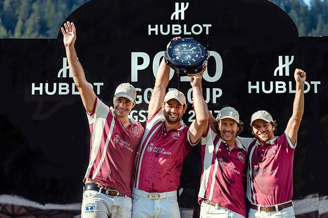 Cedric Schweri and his Team BANQUE ERIC STURDZA won the 22nd Hublot Polo Gold Cup in Gstaad-
