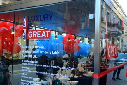 Luxury is served. Celebrating GREAT British Luxury in Milan