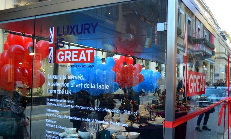 Celebrating GREAT British Luxury in Milan 2017-2018-