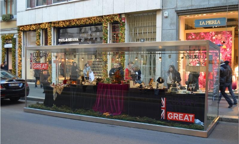 Celebrating GREAT British Luxury in Milan 2017-2018