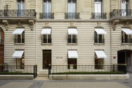 Celine's new boutique at Avenue Montaigne Paris
