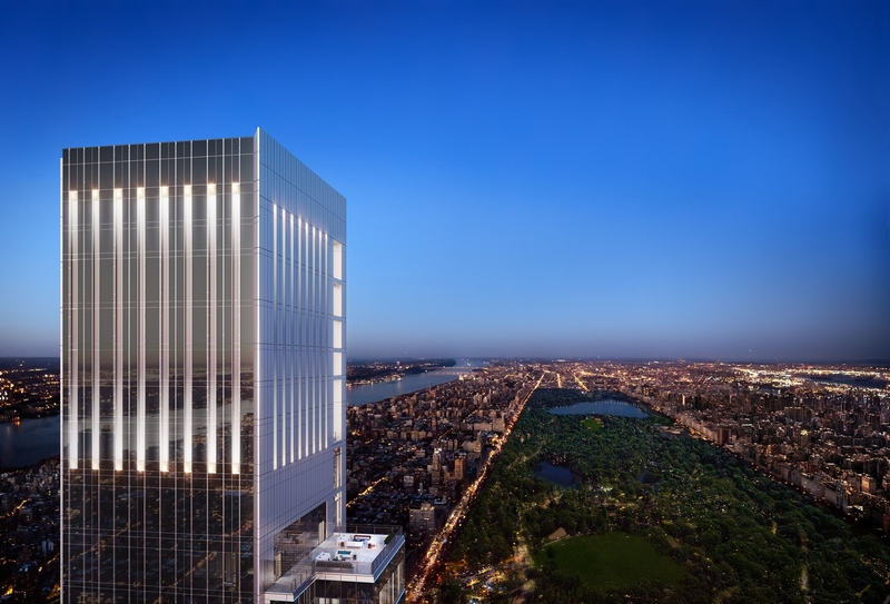 Central Park Tower has topped out, which at 1,550 feet, will be the tallest residential building in the world - 2019