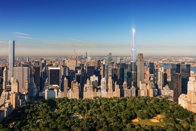 Central Park Tower has topped out, which at 1,550 feet, will be the tallest residential building in the world