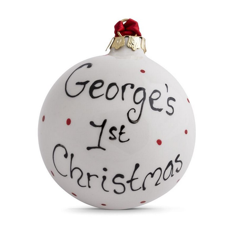 Ceramic Personalised Baby's 1st Christmas Bauble