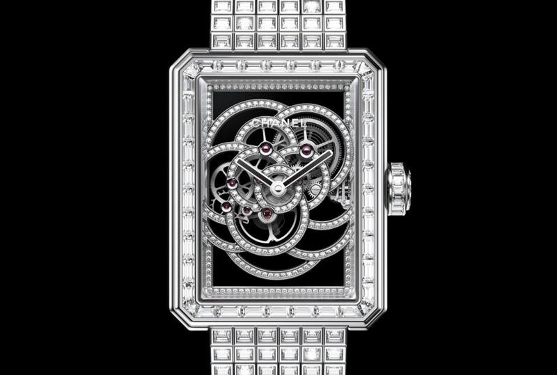 Chanel Première Camélia Skeleton watch - diamonds