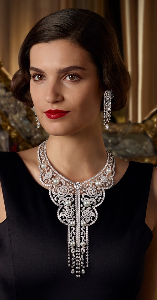 Chanel Sarafane necklace and earrings are inspired by the Russian needlework