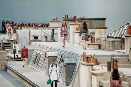 Streamlined Chanel collection shines in Paris despite catwalk crasher