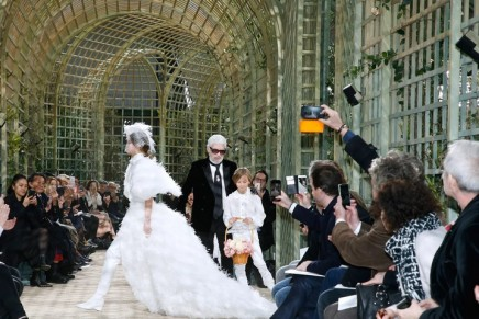 Lagerfeld still top of his game with blooming 2018 Chanel collection