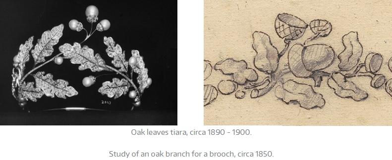 Chaumet Desse in de nature - Oak Leaves _ Oak tiara