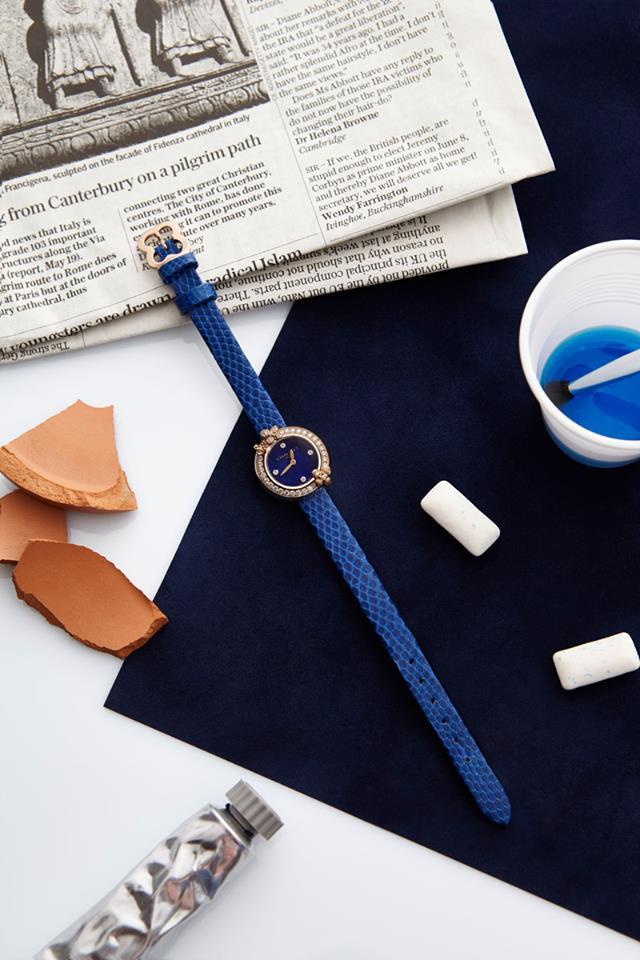 Chaumet Hortensia Eden watch with lapis lazuli dial