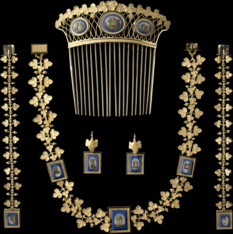 Chaumet Imperial Splendours in the Forbidden City - Empress Marie-Louise's micro-mosaic parure for the day