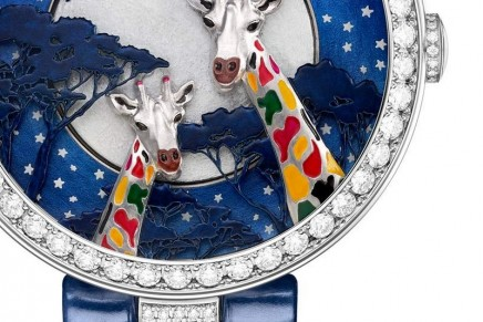 At the heart of a savannah at night: Chaumet Trésors d'Afrique Espiègleries
