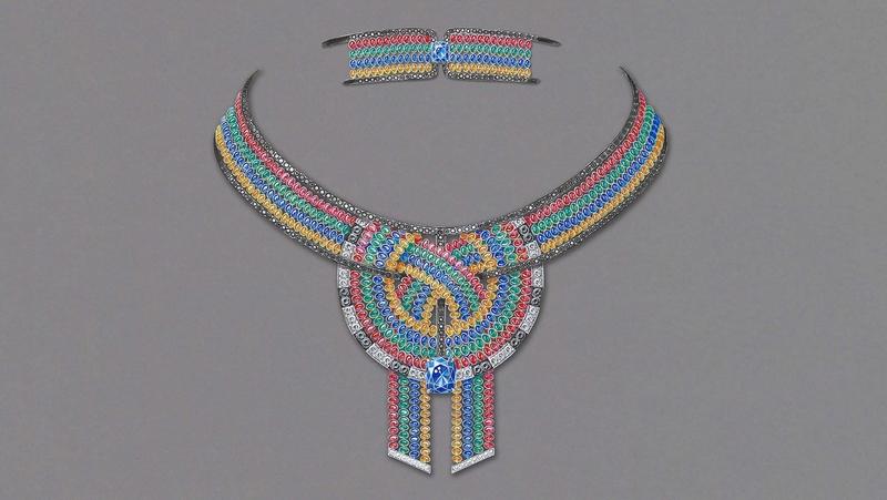 Chaumet Trésors d'Afrique collection High Jewelry 2018-Trésors d'Afrique Ronde de Pierres