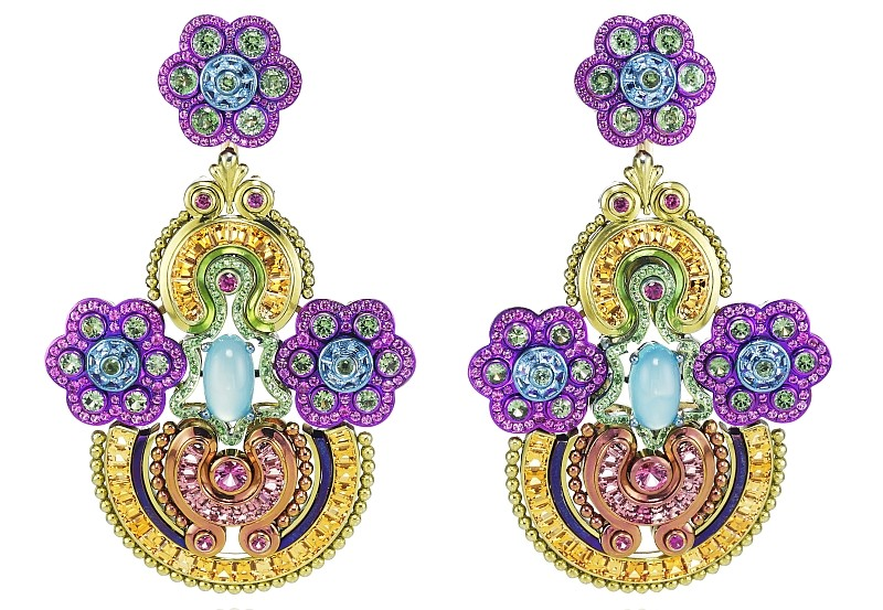 Chopard 2017 - The Silk Road Collection earrings - haute couture haute joaillerie