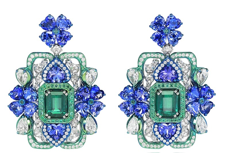 Chopard 2017 - The Silk Road Collection necklace- haute couture haute joaillerie-earrings