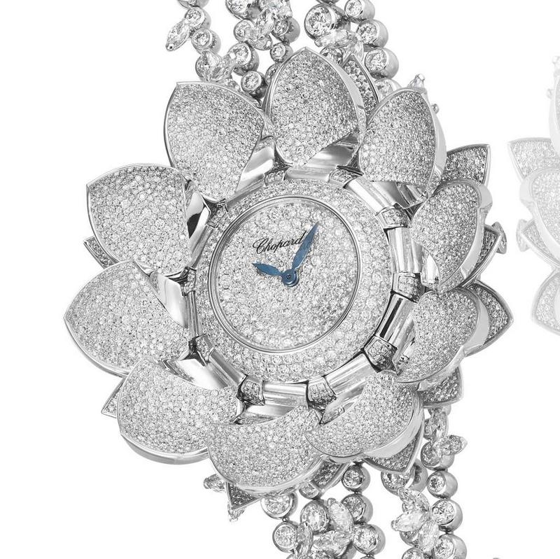 Chopard Lotus Blanc High Jewellery Watch 2017
