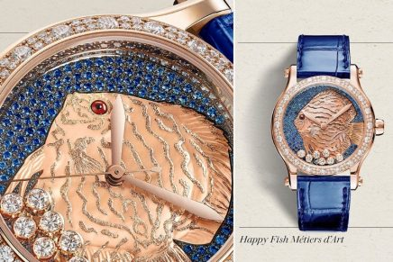 Glorious, shimmering beauty: Chopard Happy Fish Métiers d'Art in translucent sapphire waters