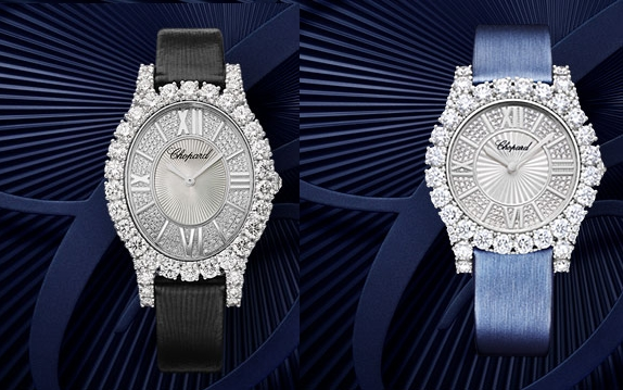 Choprad L'Heure du Diamant oval and round watches 2019