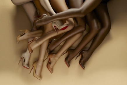 Nude shoes and Louboutin lipsticks go with everything