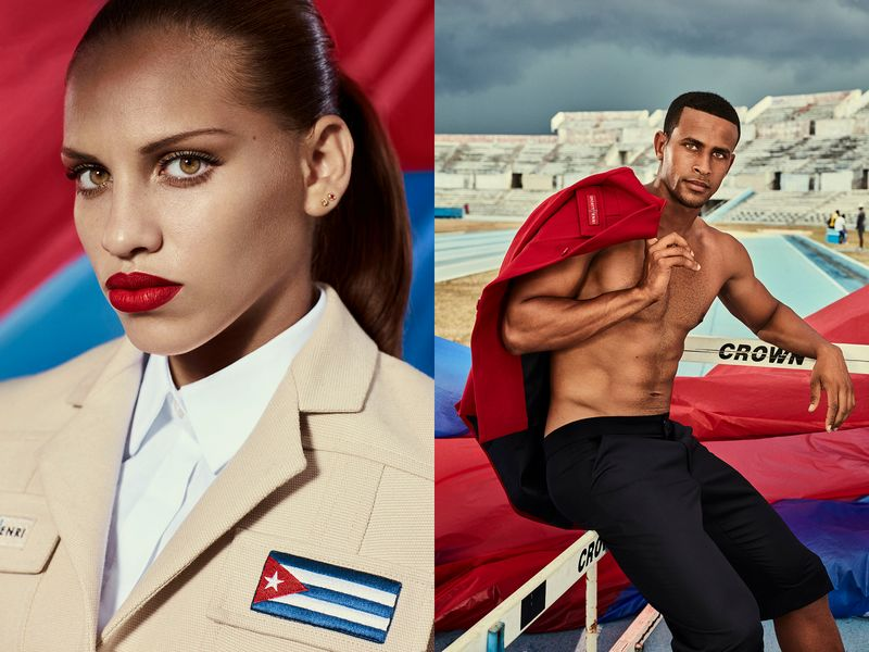 Christian Louboutin dresses Cuban olympians with elegant non-performance ensembles