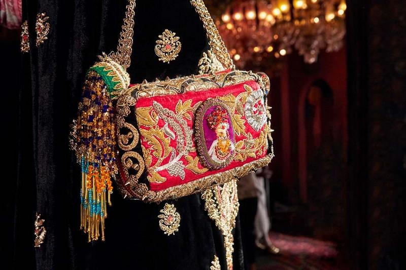 Christian Louboutin x Sabyasachi - Piloutin, an evening bag designed to look like a precious pillow