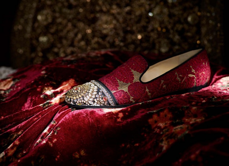 ChristianLouboutin Dandelion loafer received the Sabyasachi magic touch