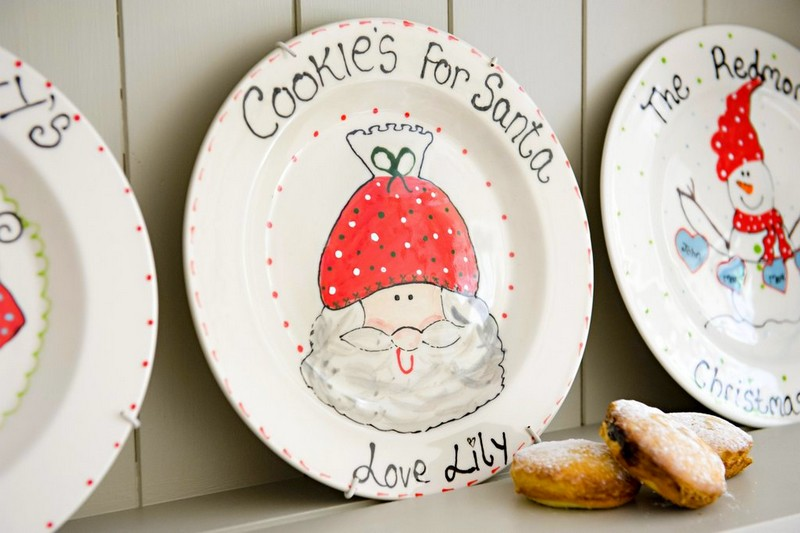 Christmas Cookies for Santa Personalised Plate