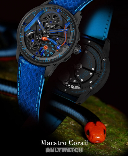 Christophe Claret Maestro Corail watch donated for Only Watch auction 2019-