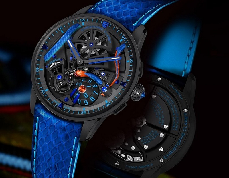 Christophe Claret Maestro Corail watch donated for Only Watch auction 2019-closeup