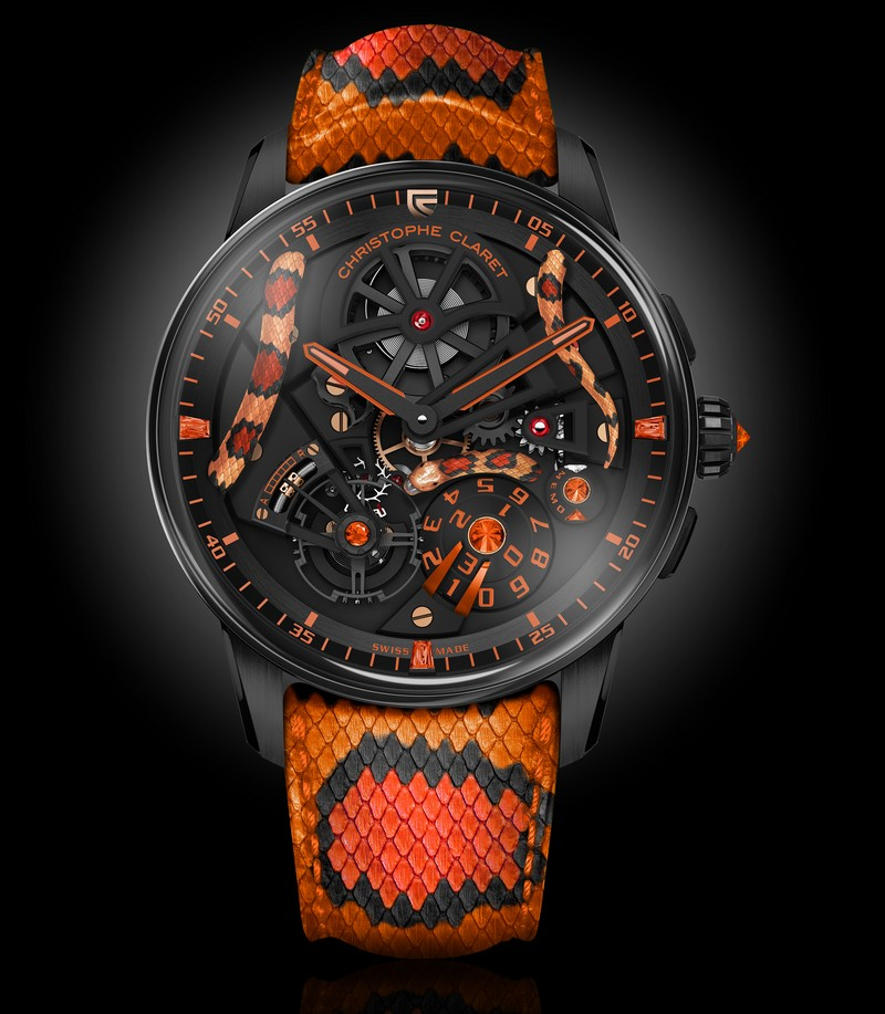 Christophe Claret Mamba watch 2018 - Red-