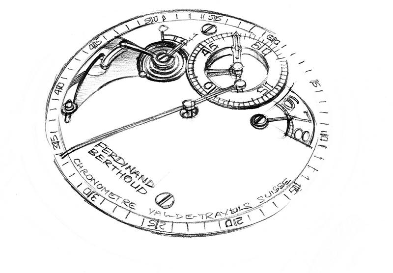 Chronometre_Ferdinand_Berthoud_FB_1R-6-1 -Chronometre Ferdinand Berthoud FB 1R.6-1 is a rare and unusual-looking timepiece-drawings